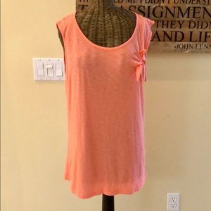 Michael Stars Side Tie Sleeveless Top OS
